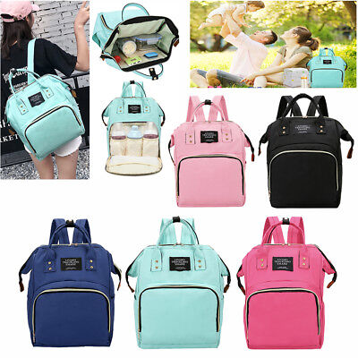 Mummy Maternity Nappy Diaper Bag Large Capacity Nursing Travel Backpack Handbag
