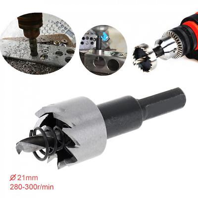 21mm Hole Saw Tooth HSS Stainless Steel Drill Bit Set Cutter Tool For Metal Wood