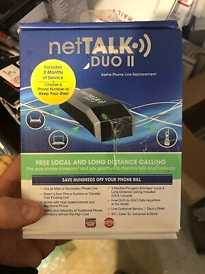 netTalk 857392003016 DUO II VoIP Phone and Device