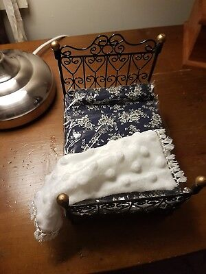 miniature doll house accessories White Throw Rug white 1:12th scale soft velour