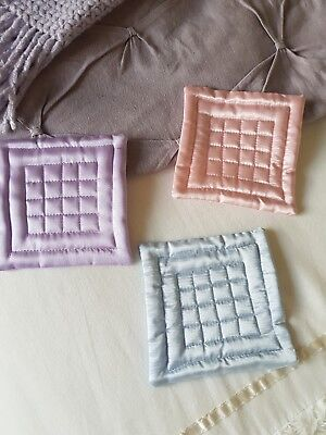 Miniature Dolls House Accessories Quilted Satin Quilt Double Bed 1:12th scale