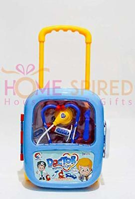 Homespired Kids Doctor/Nurse Trolley Case Stethoscope Medical Tools Playset K...