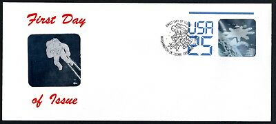 US - Postal Stationary Envelope U617 First Day Cover with 2 Holograms, 1989, MNH