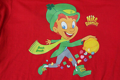 Nike Basketball Kyrie Irving 4 LUCKY CHARMS CEREAL Red Dri-Fit Men's Tee L/Large