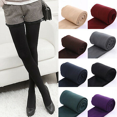 aef2890cd6141 Winter Warm Women Fleece Lined High Waist Stretchy Thick Leggings Pants  Trousers