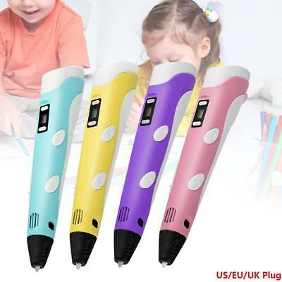 3D Stereoscopic Doodler Printing Pen with LCD Screen Version PLA ABS Filament GL