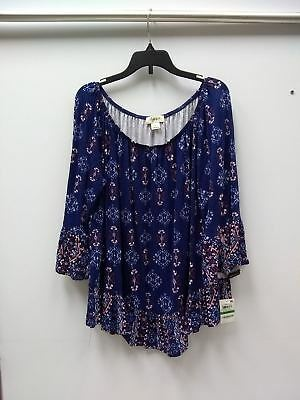 19056ace0ff22f STYLE CO PRINTED Off-The-Shoulder Top Western Ambiance L -  8.00 ...