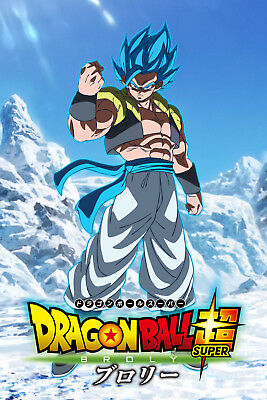 Dragon Ball Super Broly Movie Gogeta Blue Fist Poster 12inx18in Free Shipping