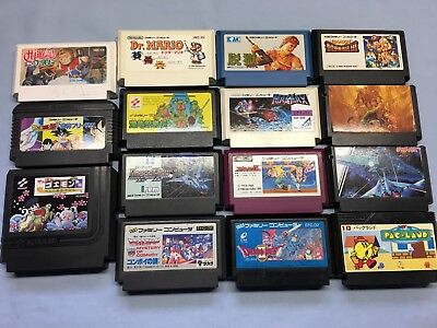 Nintendo Famicom LOT of 15 Games! Nice Bundle! Great and Rare Titles! Tested