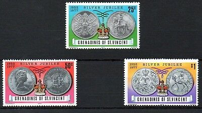 Grenadines of St Vincent 1977 Silver Jubilee MNH set S.G. 93-95