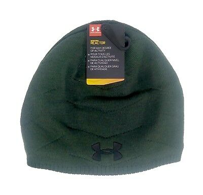 481188b05f8 UNDER ARMOUR ColdGear Reactor Knit Beanie sz OSFA One Size Fits All Olive  Green