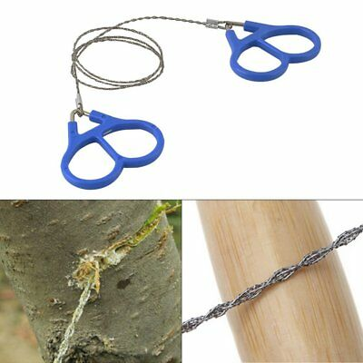 Hiking Camping Stainless Steel Wire Saw Emergency Travel Survival Gear PS