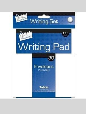 Just Stationery Writing Set includes 60 Sheets, 30 Envelopes and Pen