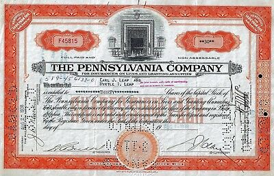 The Pennsylvania Company for Insurances on Lives, 1938 (30 Shares)