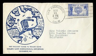 1939 Golden Gate Exposition Treasure Island 1937 First Day Event Ggie Map Cover