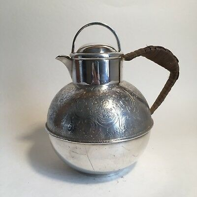 Vintage Arts And Crafts Style Made In England EPCA Engraved Tea Coffee Pot