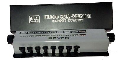 Blood Cell Counter 8 Keys in WOODEN CASE at BEST PRICE BY Brand BEXCO FREE SHIP.