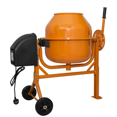 70L 250W Electric Concrete Cement Mixer Drum Portable Plaster Mortar 240V Wheels