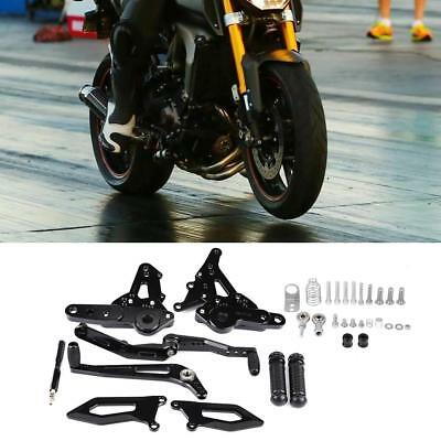 For Yamaha MT09 FZ09 MT-09 2014-2017 Foot Pegs Rear Sets Rearsets Footrest BLACK