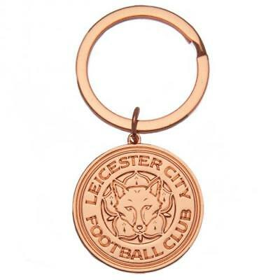 Leicester City FC Official Rose Gold Crest Keyring Brand New
