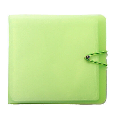 CD DVD 12 Disc Disk Case Sleeve Wallet Holder Storage Portable Bag Color Random