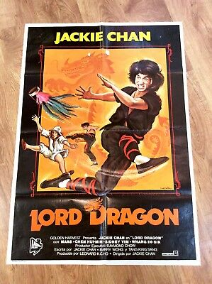 DRAGON LORD Vintage KUNG FU MARTIAL ARTS Movie Film Poster JACKIE CHAN MARS