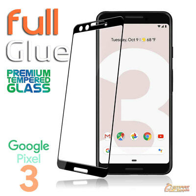 Full Coverage Glue Tempered Glass Screen Protector For Google Pixel 3 Pixel 3 XL