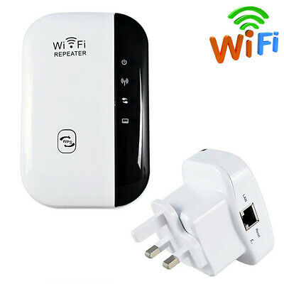 Wifi Repeater Extender Wireless Repeater 300Mbps Range Router Booster UK/EU Plug