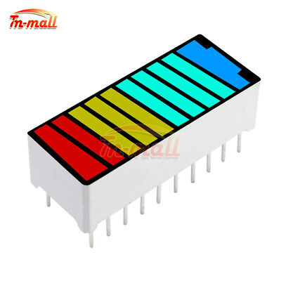 LED Battery 10 Segment 4 Colour Color Bar Graph Light Display Indicator DIP