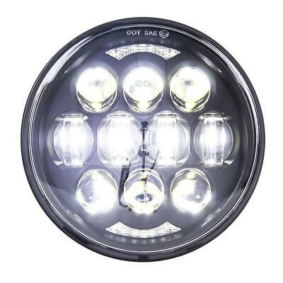"""5.75"""" 80W LED Projector Motorcycle Headlight White DRL Light for Harley Honda"""