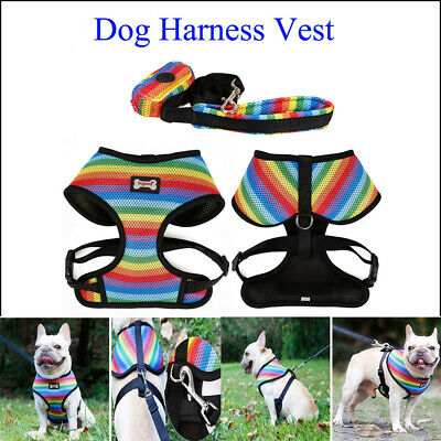 Pet Solutions Dog Puppy Colorful Vest Harness Soft Adjustable Comfortable Vest