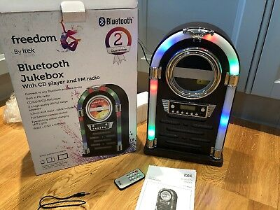 iTek Bluetooth Multi Functional LED Jukebox Speakers CD Player Radio