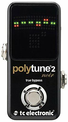Tc Electronic Polytune Noir Mini 2 Pedal Tuner True Bypass Acoustic Equipment