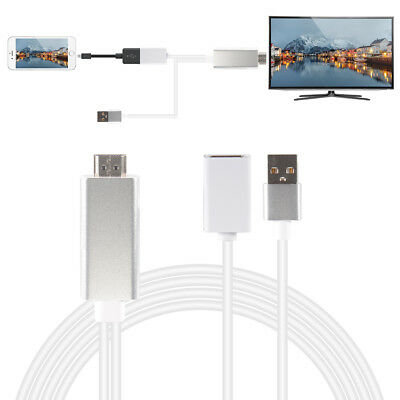 New USB MHL To HDMI 1080P TV Adapter Cable for iPhone 6/6s/7s/8/X iPad AC1456
