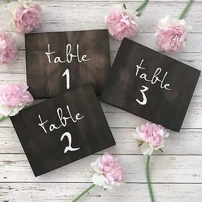 Wooden Table Numbers for Country Wedding | Wedding Table Numbers to Suit Rustic