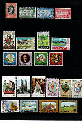 Barbados. 1953/1983   SEVEN great sets of mint stamps. Details below