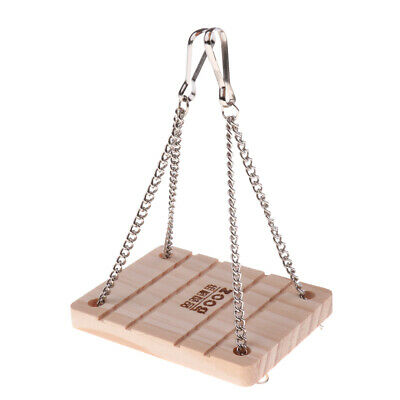 Wooden Hamster Rat Mouse Toys Hammock Swing Bell Small Pet Animal Supplies