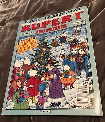 Rupert And Friends Comic. Rare Vintage 28/12/1991 Merry Christmas No.4 Marvel.