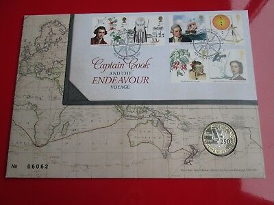 2018 Captain Cook Endeavour £2 Two Pound Coin Cover BUNC  PNC FDC