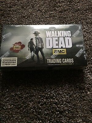 The Walking Dead Season 4 Part 2 Trading cards SEALED Hobby Box Cryptozoic