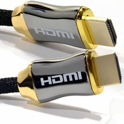 4K HDMI CABLE 2.0 GOLD PLATED BRAIDED LEAD HIGH SPEED 2160P 3D HDTV UHD 1m 2m 3m