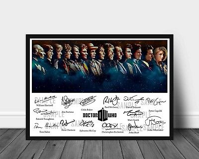 Signed Print of All 14 DOCTOR WHO Main Doctors (Poster only)