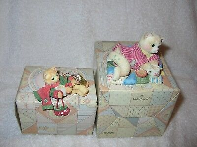 Calico Kittens, Creature Comforts & Cat with a Scarf Dated 2002 B/N/I/B's