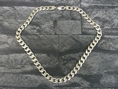 Superb Gold Over Solid Silver Hallmarked Curb Neck Chain..ald.97.5 Grams.italy