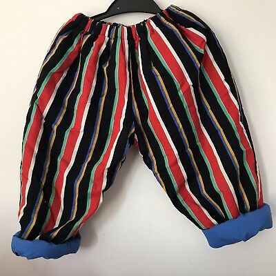 Super Cute Vintage 80s/90s Fully Reversible Childrens Babies Trousers