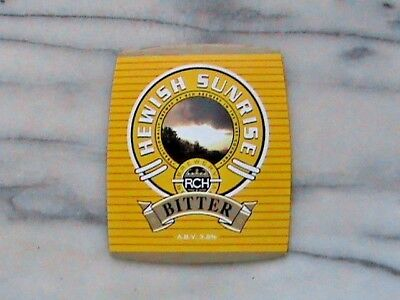 RCH Hewish Sunrise Bitter real ale beer pump clip sign