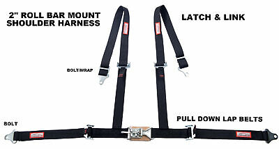 """Sparco Racing Street 3 Point Bolt-In 2/"""" Seat Belt Harness Red"""