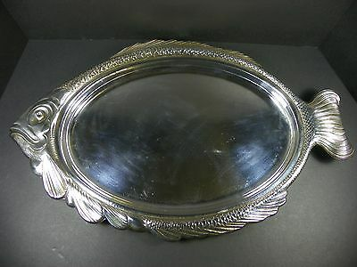 Vintage Silver Plated Fish Platter Tray by Wm A Rogers