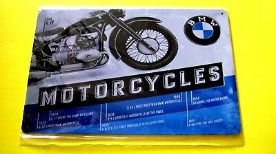 Motorcycles BMW Metal Tin SIGN Home Garage shop Wall decor Bike plaque