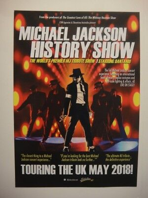 Michael Jackson History Show - A5 Flyer - Uk And Ireland Tour
